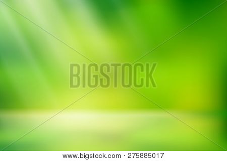 Vector Beautiful Natural Style Of Life. Sunrise Soft Nature Background Reflect Shelf, Illustration N
