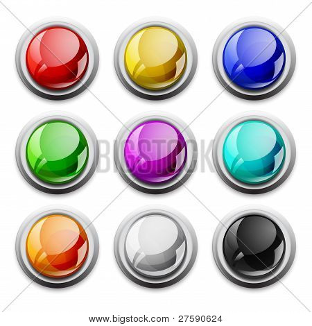 vector modern glossy icons, samples