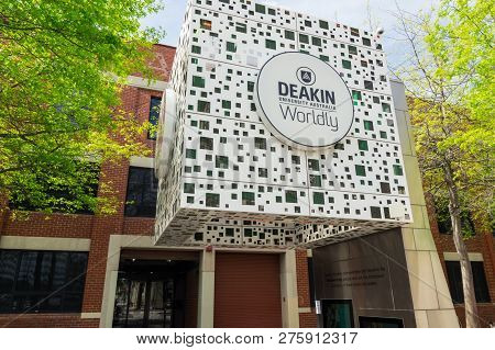 Geelong, Australia - October 14, 2018: Deakin University Is A Public University With Multiple Campus