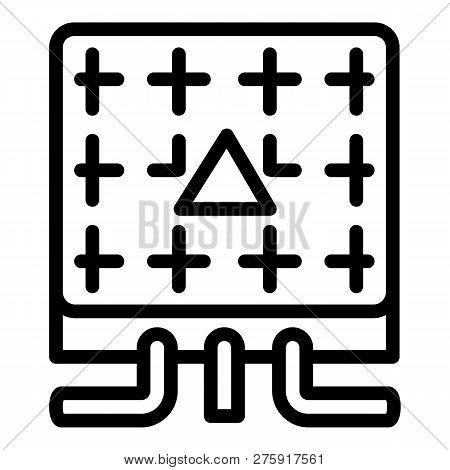 Electric Commutator Box Icon. Outline Electric Commutator Box Icon For Web Design Isolated On White