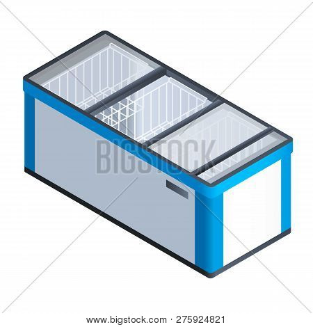 Commercial Freeze Icon. Isometric Of Commercial Freeze Icon For Web Design Isolated On White Backgro