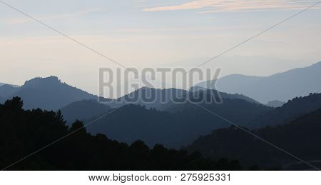 Nature With Blue Sky In The Mountains Dusk