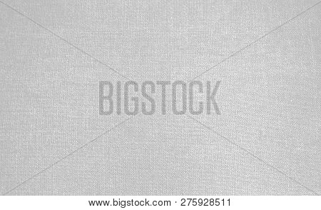 Empty Light Grey White Linen Texture Background