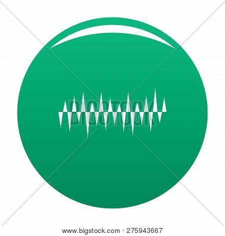 Equalizer Pulse Icon. Simple Illustration Of Equalizer Pulse Icon For Any Design Green