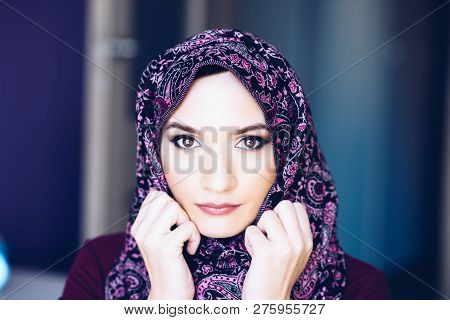 Portrait Of Beautiful Arabic Middle Eastern Woman