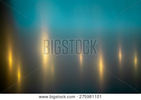 Teal And Gold Metallic Graphic Background Texture