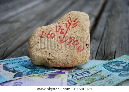 I love you for money