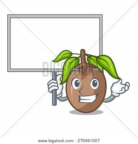 Bring Board Sapodilla Fruit On The Character Bowl