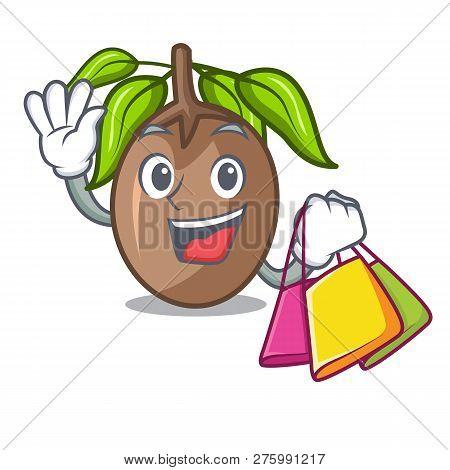 Shopping Sapodilla Fruit Isolated On The Mascot