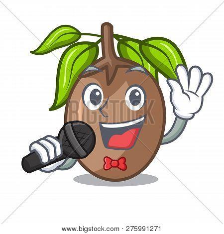 Singing Sapodilla Fruit Cut In Shape Cartoon
