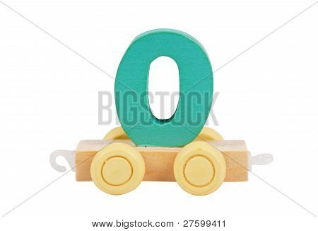 Wooden Toy Number 0