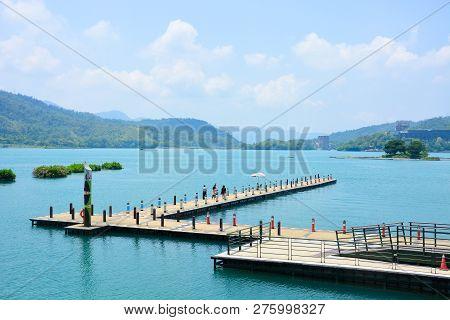 Xuanguang Pier (pier For Parking Tourist Boat), Sun Moon Lake, Taiwan