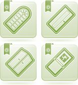 House Everyday Items (part of the Olivine Squared 2D Icons Set) poster