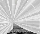 abstract path - modern background in black and white poster