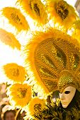Yellow Sun Mask in Venice Carnival 2008. poster