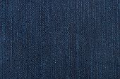 Macro of denim abstract textile jeans background poster