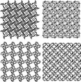 black and white geometric seamless patterns set. Vector backgrounds poster