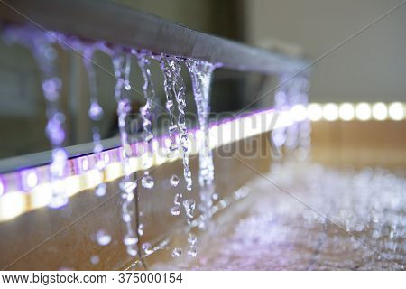 Water Is Drained From The Tray To The Floor Of The Shower. Multi-colored Led Backlight.