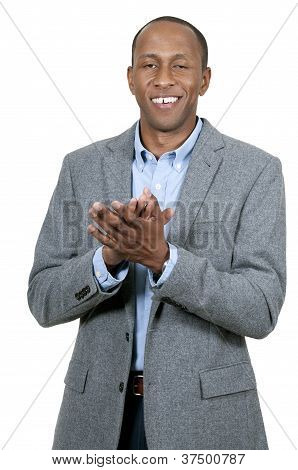 Black Man Clapping