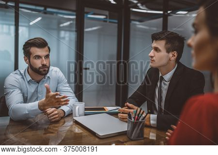 Man And Woman Having An Argument In The Lawyers Office