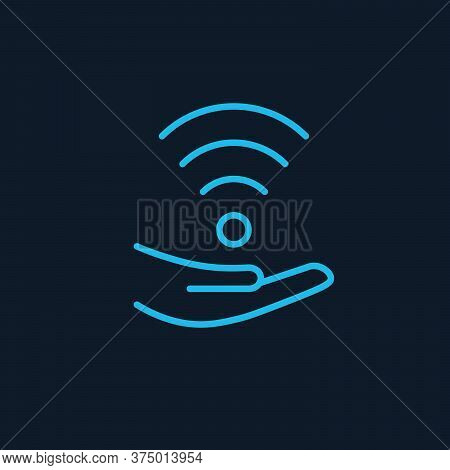 Share Wifi Signal Icon. Hand With Wi-fi Vector Icon. Filled Flat Sign For Mobile Concept And Web Des