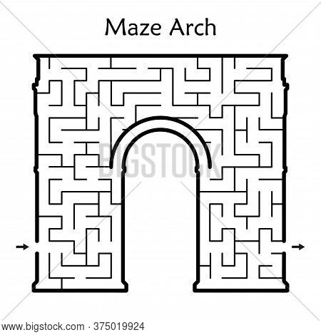 Abstract Maze / Labyrinth With Entry And Exit. Vector Labyrinth 292.