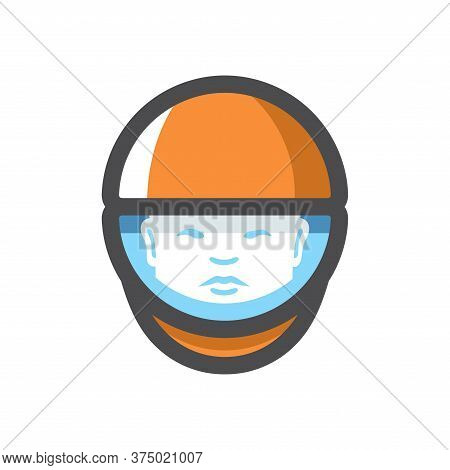 Chinese Astronaut. Spaceman. Cosmonaut Vector Cartoon Illustration
