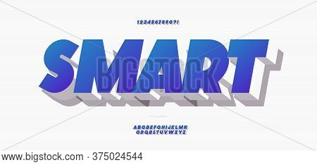 Vector 3d Bold Smart Font Color Style Modern Typography For Poster, Event Decoration, Motion, Video,