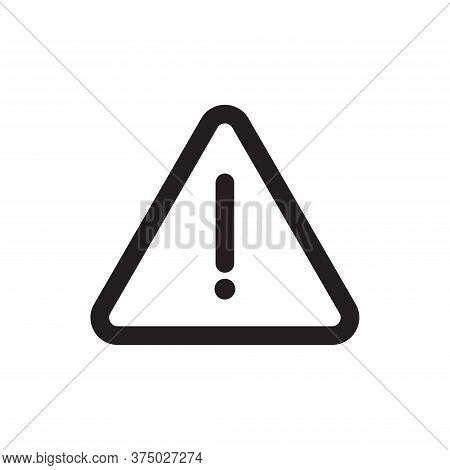 Attention Icon Isolated On White Background. Attention Icon In Trendy Design Style For Web Site And