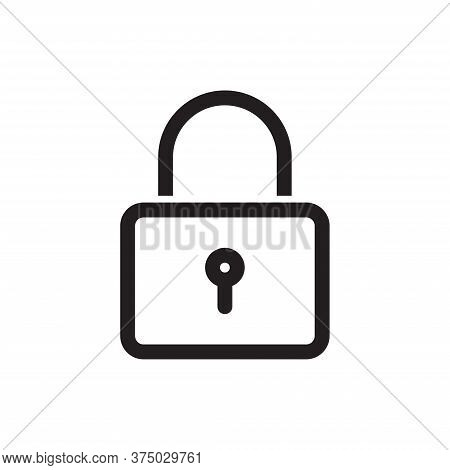 Lock Icon Isolated On White Background. Lock Icon In Trendy Design Style For Web Site And Mobile App