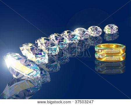 Golden Ring And Eight Brilliants