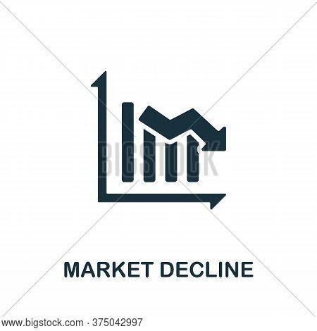 Market Decline Icon. Simple Element From Crisis Collection. Creative Market Decline Icon For Web Des