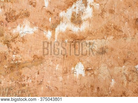 Clay Soil Background, Orange Soil, Closeup, Texture