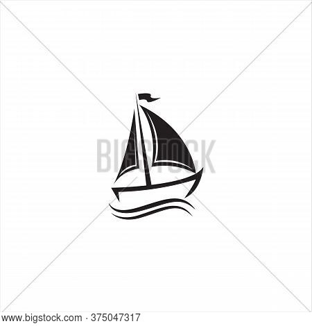 Sail Boat Icon Isolated On White Background. Sail Boat Icon In Trendy Design Style For Web Site And