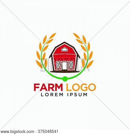 Barn And Paddy Logo Design For Farm Modern Template