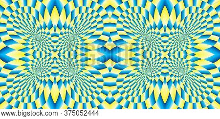 Background - Motion Illusion. Psychedelic Illusion. Futuristic Pattern - Distortion Effect. Geometri