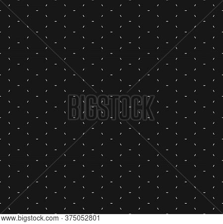 Vector Minimalist Seamless Pattern. Black And White Minimal Geometric Texture. Simple Abstract Monoc