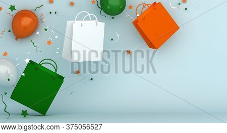 Happy Independence Day Of India Decoration Background, Greeting Card, Banner, Template, Flyer, Ballo