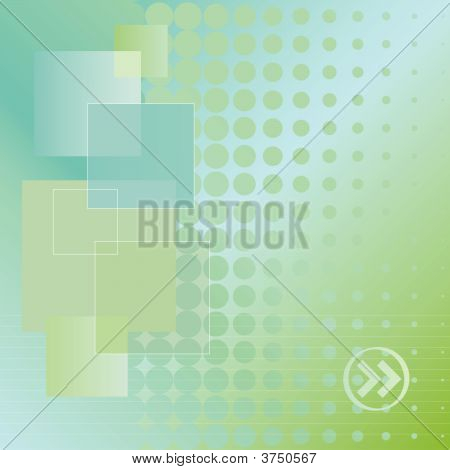 Doted Background In Blue And Green