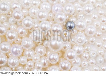 Full Frame Pearl Beads And One Black