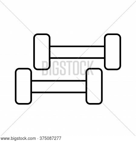 Weights Line Style Icon Design, Gym Sport Bodybuilding Healthy Lifestyle Activity Cardio Leisure And