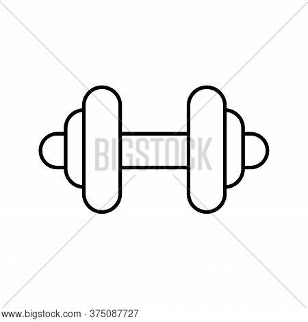 Weight Line Style Icon Design, Gym Sport Bodybuilding Healthy Lifestyle Activity Cardio Leisure And