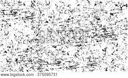 Black And White Grunge Monochrome Abstract Vector Background. Texture Template,urban Scratched Wallp
