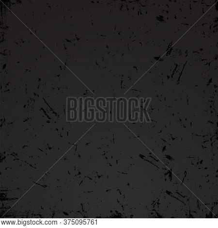 Black Grunge Textured Abstract Vector Background. Texture Template,urban Scratched Wallpaper. Retro