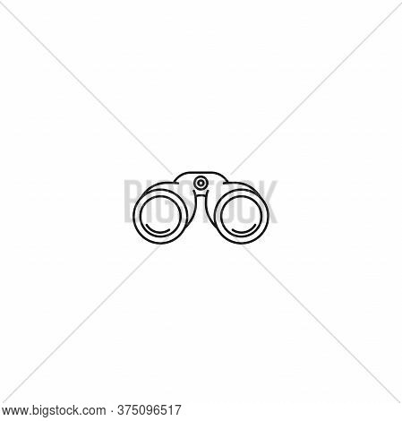 Black Binoculars Icon. Search, Exploration, Discovery, Navigation Concept.
