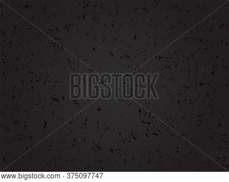 Grunge Black Textured Abstract Vector Background. Texture Template,urban Scratched Wallpaper. Retro