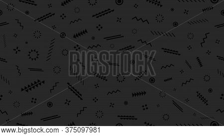 Modern Dark Seamless Background With Abstract Graphic Elements. Creative Vector Illustration