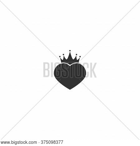 Crown Icon Isolated On White. Royal, Luxury, Vip, First Class Sign. Winner Award. Monarchy, Authorit
