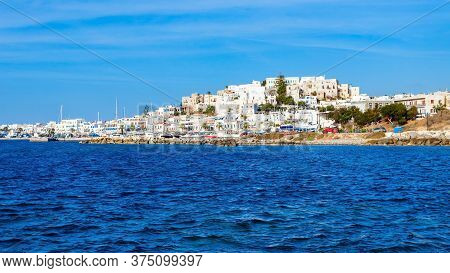 Naxos Island Aerial Panoramic View. Naxos Is The Largest Of The Cyclades Island Group In The Aegean,