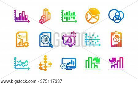 Infochart, Block Diagram And Algorithm. Charts And Graphs Icons. Presentation Classic Icon Set Gradi